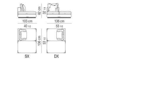 OPEN-END SOFA ELEMENT CM 103X136
