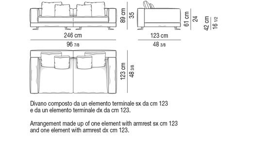 DEPTH CM 123 - SOFA CM 246