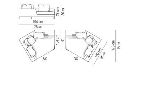 INCLINED ELEMENT WITH 1 ARM CM 194