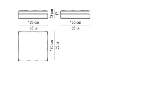 BENCH CM 135X135