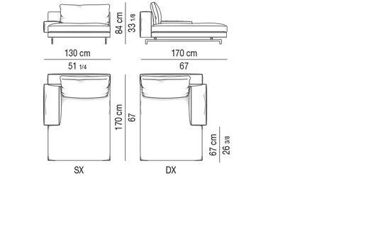 CHAISE LONGUE CM 130X170