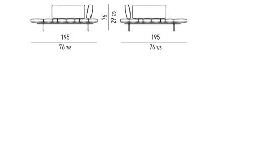 POSSIBLE CONFIGURATIONS WITH: 1 BENCH ELEMENT + 2 BACKRESTS CM 97