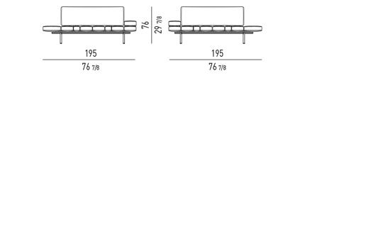 POSSIBLE CONFIGURATIONS WITH: 1 BENCH ELEMENT + 1 BACKREST CM 132 + 1/2 ARMERESTS