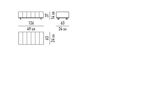 BENCH CM 126X63