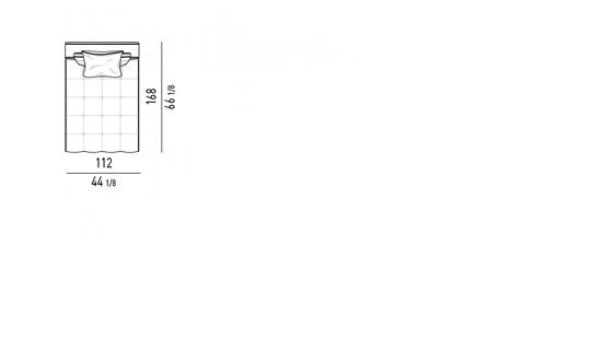 COUCH CM 112X168 - BACKREST CM 112