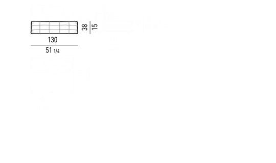 OPTIONAL LUMBAR CUSHION CM 130X38
