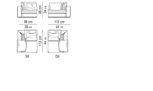 CORNER ELEMENT CM 98X112