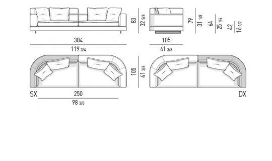 DROP - SOFA MIX CM 304