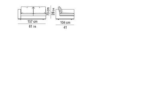 HAMILTON - ELEMENT WITH 1 ARMREST cm 157