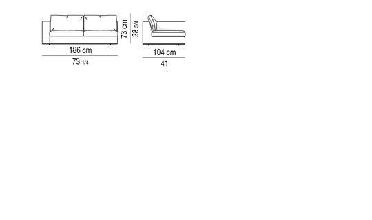 HAMILTON - ELEMENT WITH 1 ARMREST cm 186
