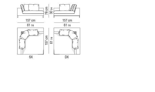 Corner sofa CM 157x157