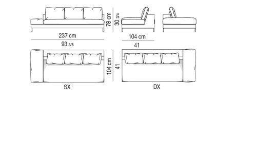 Element 1 arm with arm-cushion CM 237