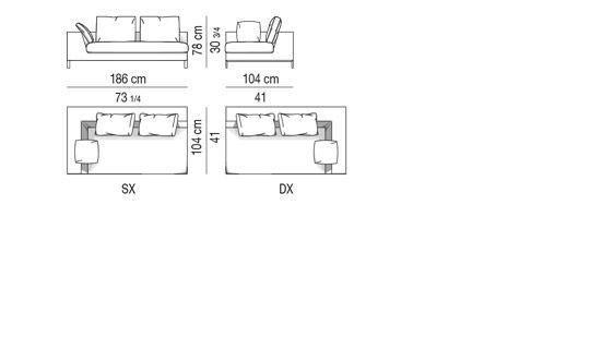 Element with 1 arm_sx - HAMILTON ISLANDS              CM 186x104x78