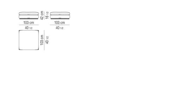 OTTOMAN cm 103x103