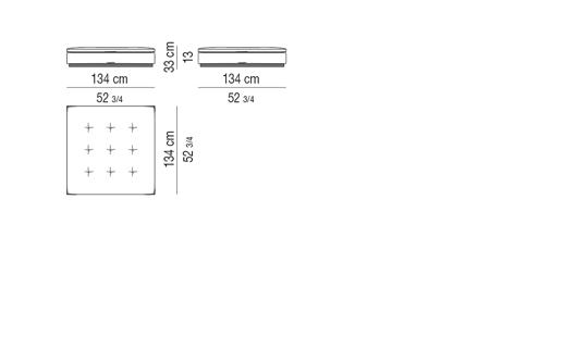 BENCH cm 134x134