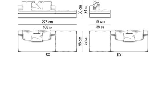 OPEN-END ELEMENT WITH OUT ARMREST CM 275