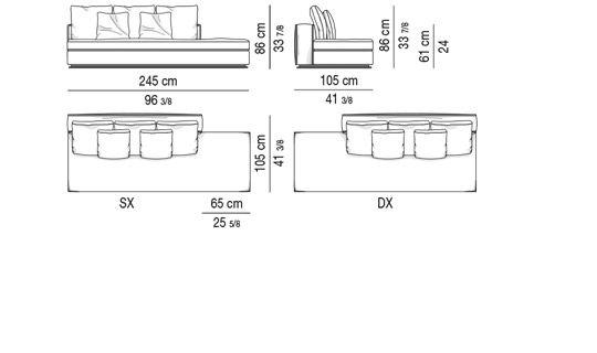 OPEN-END ELEMENT CM 245 - BACKREST CM 180