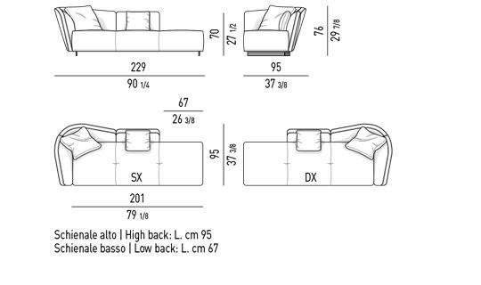 OPEN-END ELEMENT ARMREST MIX CM 229 - BACKREST CM 162