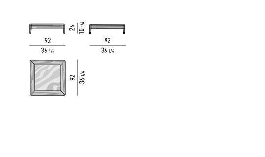 COFFE TABLE CM 92X92