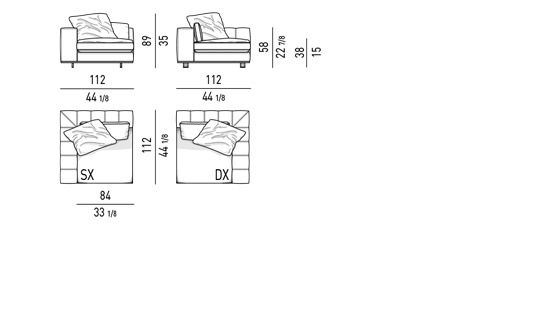 DUVET - CORNER ELEMENT CM 112