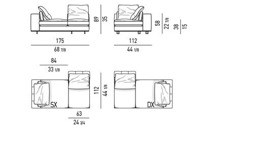 DUVET - DAYBED ELEMENT CM 175