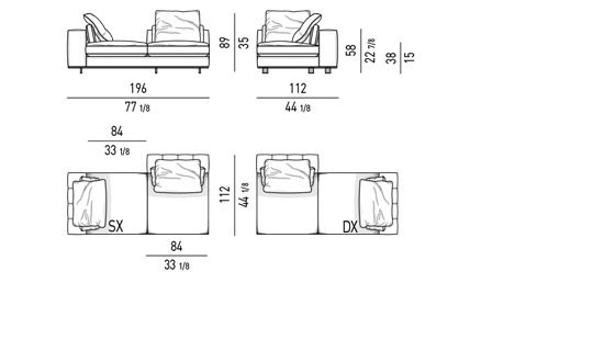 DUVET - DAYBED  ELEMENT CM 196