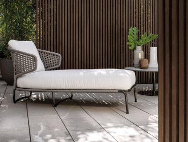 Aston Cord Chaise Longue Outdoor