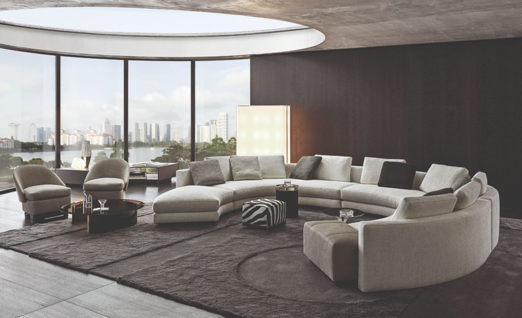 Daniels seating system by Minotti London