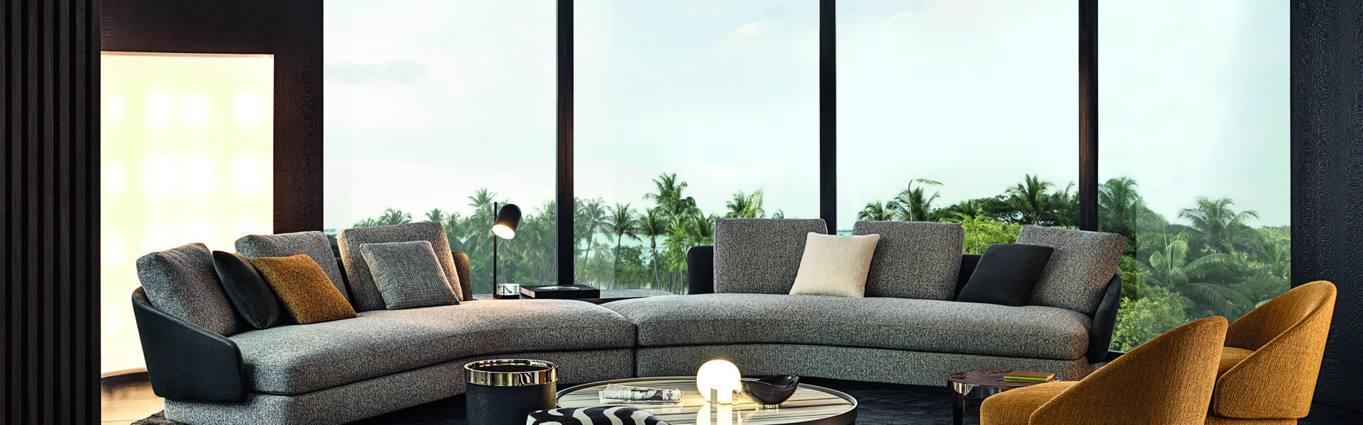"Minotti explores ""New Forms"" with its latest furniture collection"