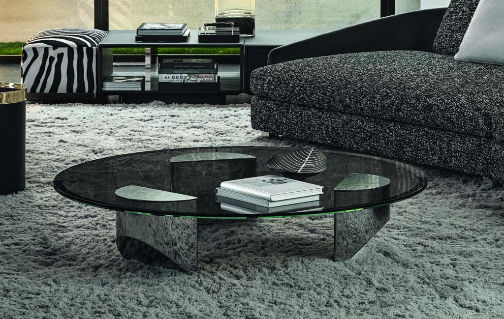Minotti Wedge coffee table by Nendo design