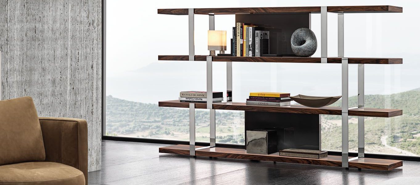 Dalton Chrome Bookcase